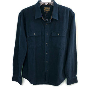 Lucky Brand Dark Blue Cotton Button Front NWT